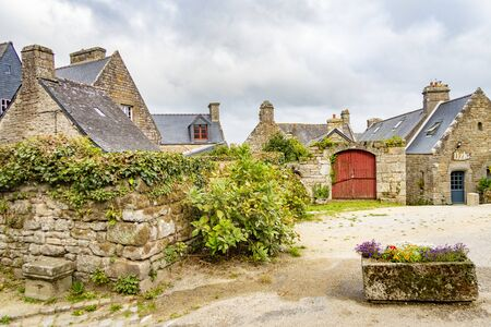 beautiful houses in Locronan, Brittany, France
