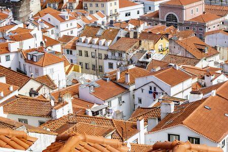 red rooft of old town in Lisbon Reklamní fotografie