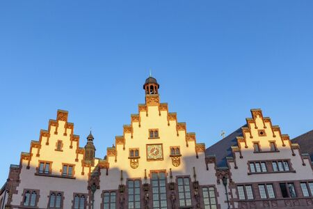 gable of famous town hall at the Roemer in Frankfurt, Germany