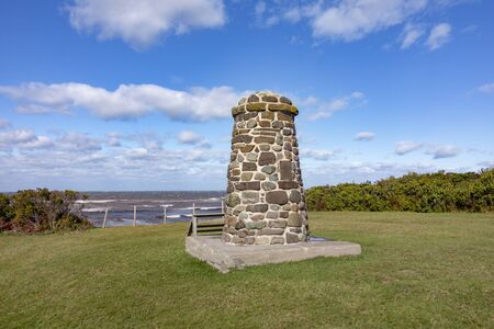 stone tower to remember the ballte of Culloden, Scotland
