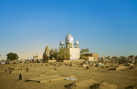 Sufi Mausoleum in Omdurman, Sudan with cemetery