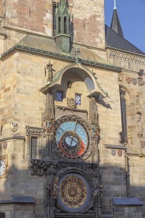 Astronomical Clock (Orloj) in the Old Town of Prague, Czech Republic