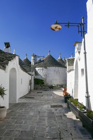 The traditional Trulli houses in Alberobello city, Apulia, Italy