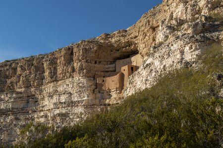 Montezuma Castle National Monument in Arizona Stok Fotoğraf