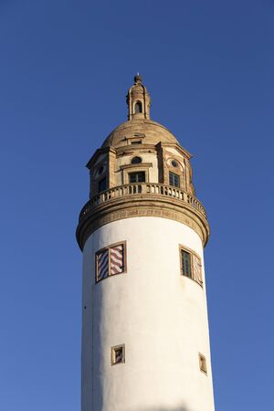 donjon of the frankfurt Hoechst castle under blue sky