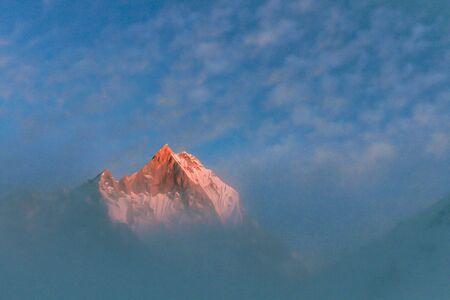 Starry sky over Machhepuchare and Annapurna Base Camp - Nepal, Himalayas Reklamní fotografie