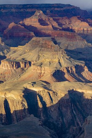 view to Grand Canyon in late afternoon light