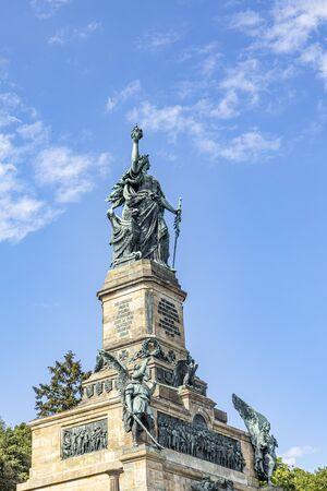 Niederwalddenkmal, a monument built in 1883 to commemorate the Unification of Germany. Niederwald near Rudesheim am Rhein in Hesse