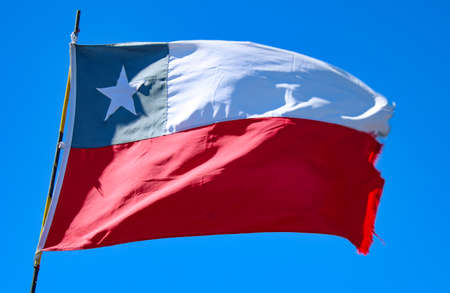 flag of Chile under clear blue sky