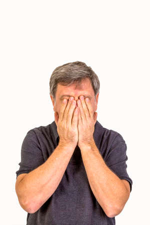 man slapping hands in front of the face