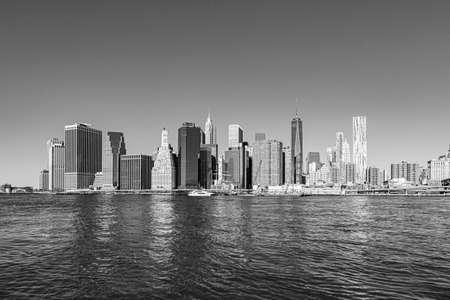 scenic sunrise view of skyline of New York, USA