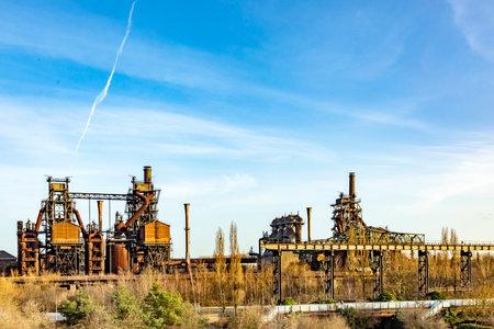Old industry building at Landscape Park 免版税图像