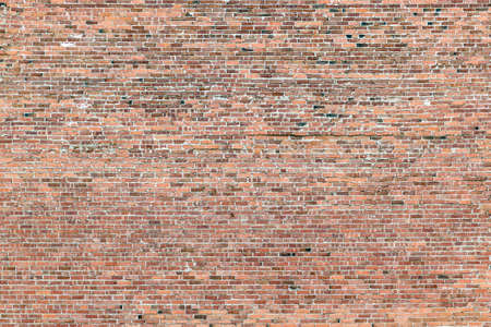 pattern of old red historic brick wall
