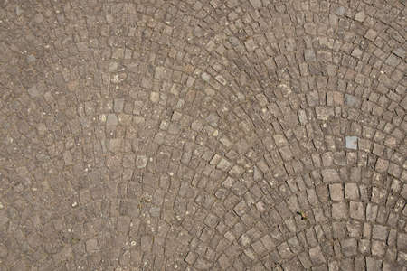 harmonic pattern of nfloor with gray and brown cobble stones