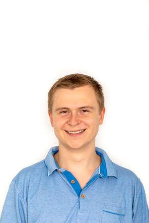 portrait of smiling caucasian young man