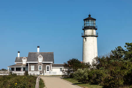 The Highland Light, also known as the Cape Cod Light and the North Truro Lights, is one of the tallest and oldest lighthouses on Cape Cod Фото со стока
