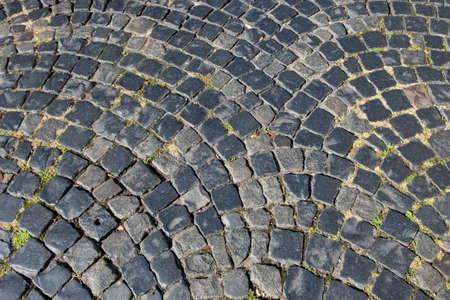 pattern of old cobblestone street in Germany
