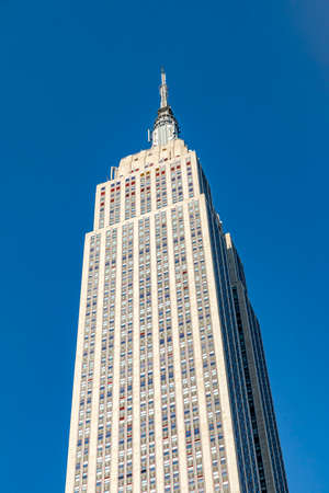 New York, USA - October 5, 2017: Empire State Building view from street level in Manhattan, New York.