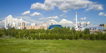 The existing President Park of Astana should see more action and life in the future. Because the soil is poor, trees grow very slowly in Astana in the foreseeable future they will not form a spatial structure. This will provide different areas for gardens
