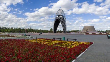 Museum and memorial complex of Victims of political repressions and totalitarianism in Kazakhstan.