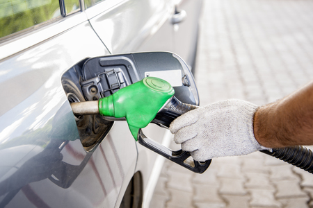 refueling: Automobile refueling with gasoline