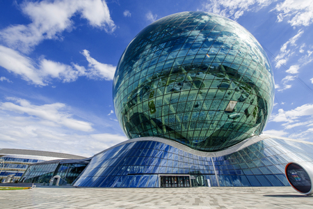 The sphere of Nur Alem in Astana city Editorial