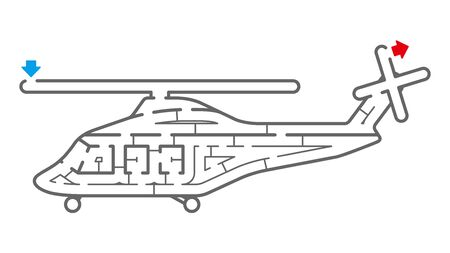 Helicopter Maze. It is suitable for brain training.  イラスト・ベクター素材