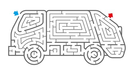 Garbage Truck Maze. It is suitable for brain training.
