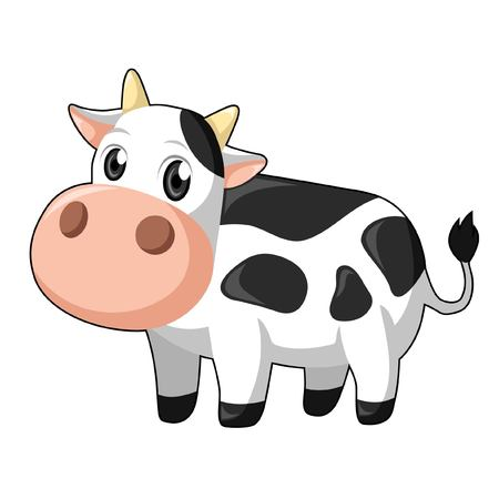 cute cow: Cute Cow in White Background