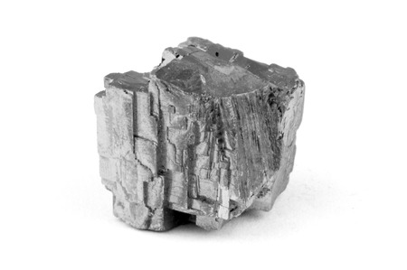 Macro photo of a piece of lead ore