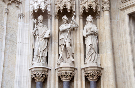 catholocism: Architecture detail of Zagreb Cathedral, Croatia Stock Photo