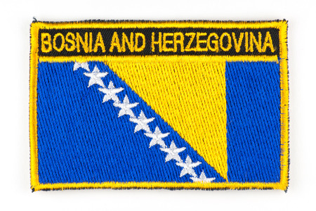 Photo of patch depicting the flag of Bosnia and Herzegovina Stock Photo - 26904290