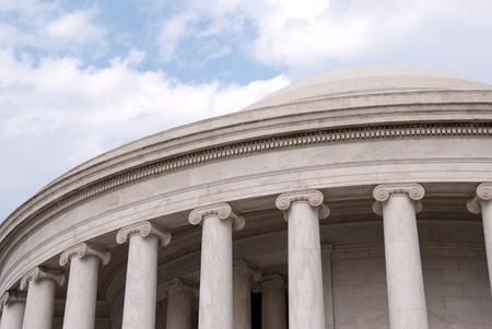 Exterior facade of the Jefferson Memorial, Washington, DC