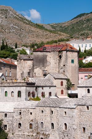 Stone building in Mostar, Bosnia and Herzegovina Stock Photo