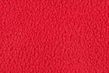 Red cotton fleece texture
