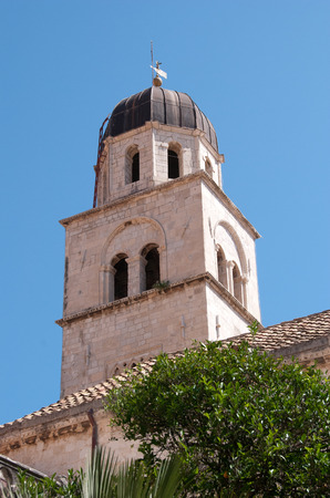 Tower of the Franciscan Monastery, Dubrovnik, Croatia Stock Photo