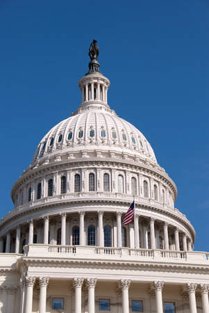 Western facade and dome of the United States Capitol Building, Washington, D C  Stock Photo