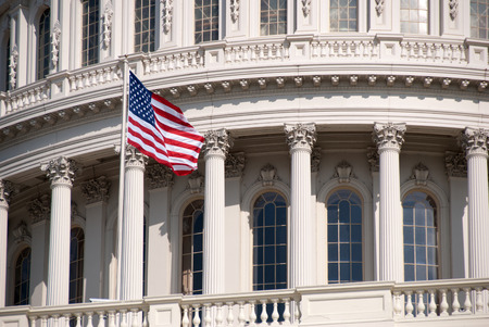 Close-up photo of the United States Capitol Building in Washington, D C