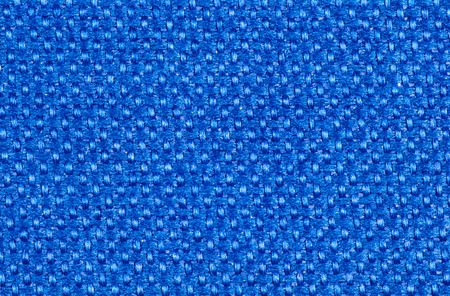 Bright blue synthetic textile fibers