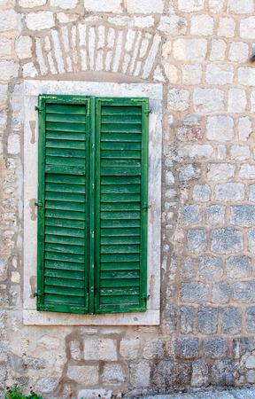 A shuttered green window, Montenegro