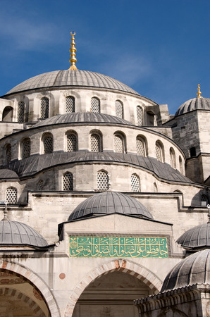 Exterior of the Blue Mosque, Istanbul, Turkey Stock Photo