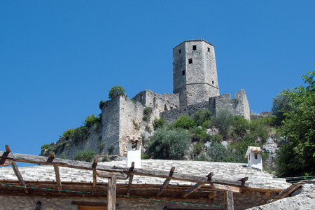 Historic medieval and Ottoman structures of Pocitelj, Bosnia and Herzegovina
