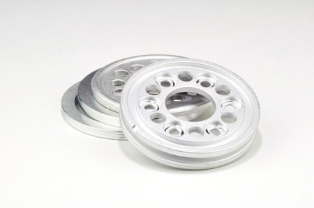 Circular spare hard drive parts, aluminum
