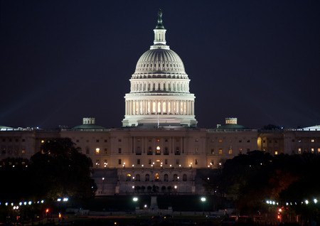 United States Capitol Building, at night