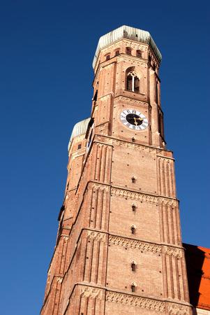 Vertical photo of Munich Frauenkirche