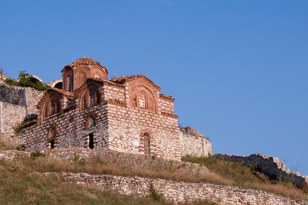 St  Mary of Blachernae Church, Berat, Albania Stock Photo
