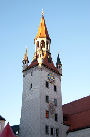 Photo of the Altes Rathaus  old town hall , Munich, Germany Stock Photo