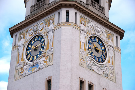 Tower of the Mullersches Volksbad  Muller public baths , Munich, Germany