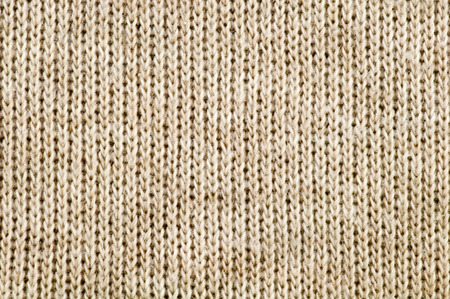 sewn up: Brown cloth texture showing weave