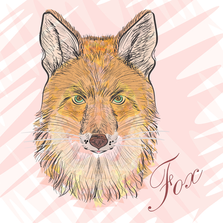 artful: Artful Orange fox. Vector illyustration of-poligons. Predatory animal Illustration